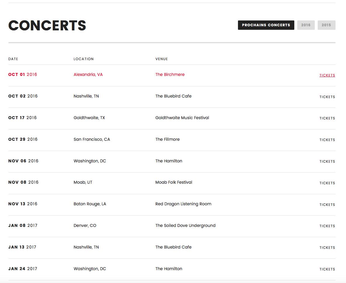 Gérer vos concerts - Gérer vos photos de concerts - Site internet pour musicien, artiste