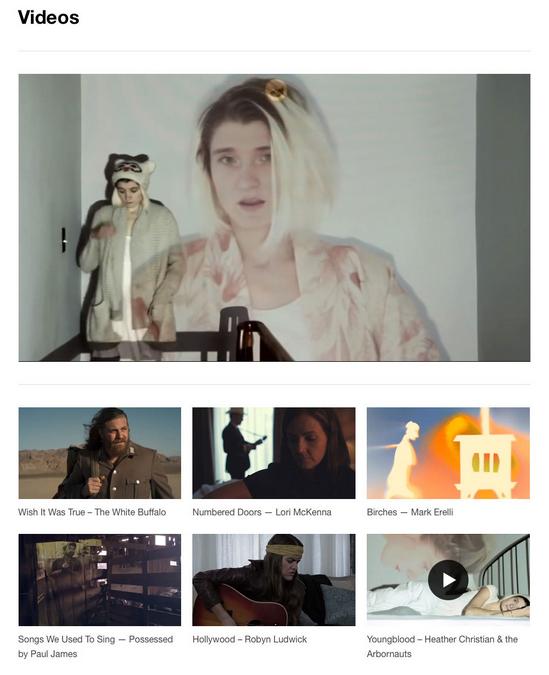 Site web pour musiciens - videos